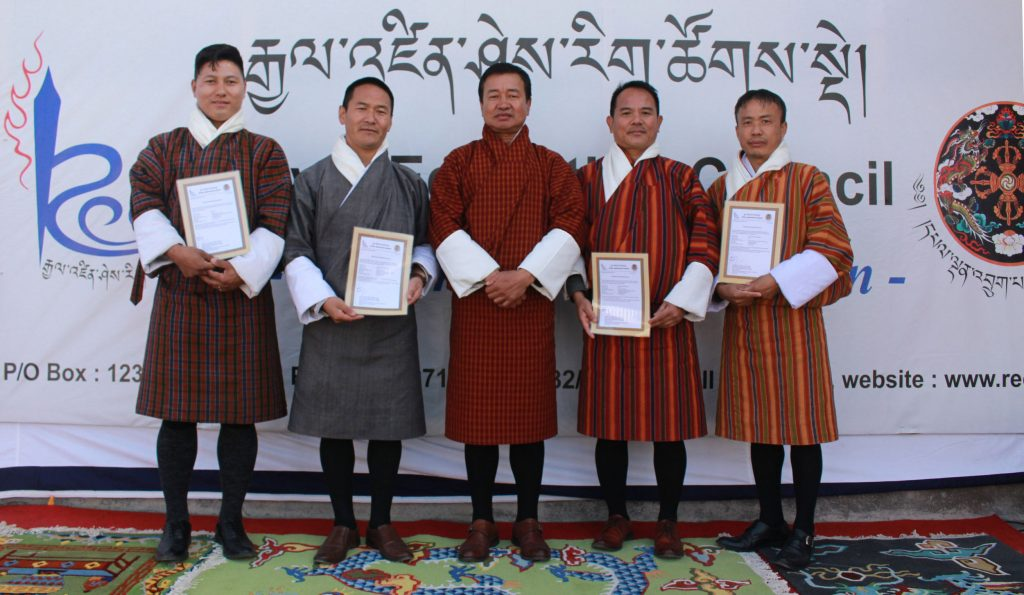From L to R: Sangay, Dorji, Amber Rai, Sonam Tshering