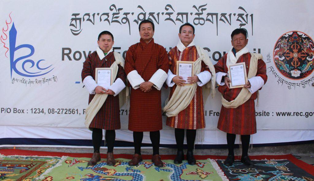 From L to R: Norbu Wangchuk, Bhoj Raj Rai, Dorji Tshewang